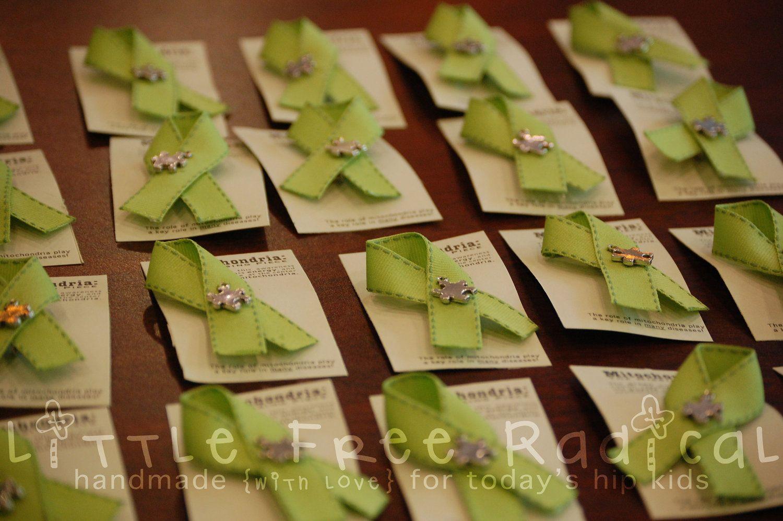 Mitochondria Green Ribbon Pin | Ryder~our Rare zebra
