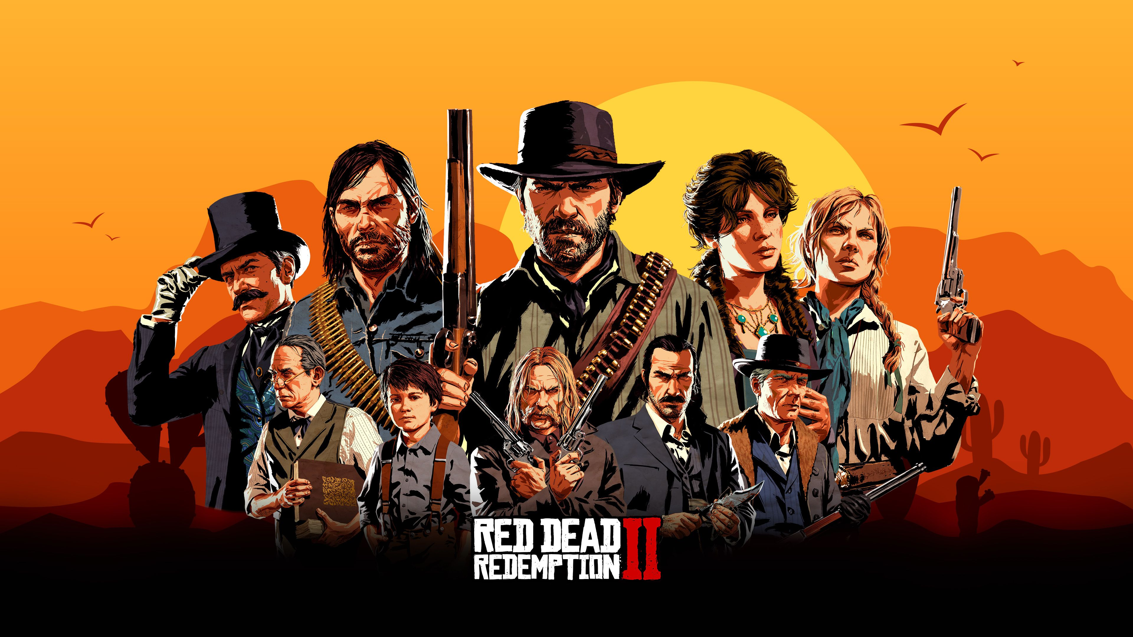 Wallpaper 4k Red Dead Redemption 2 Game Characters 2018 Games