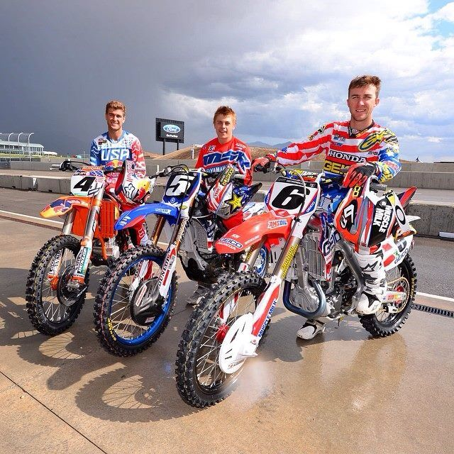 Team USA for 2014 Motocross of Nations  Ryan Dungey, Jeremy