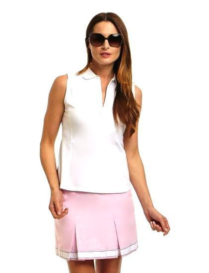 New for Spring 2016! Cameo Pink Pleated Golf Skort $128