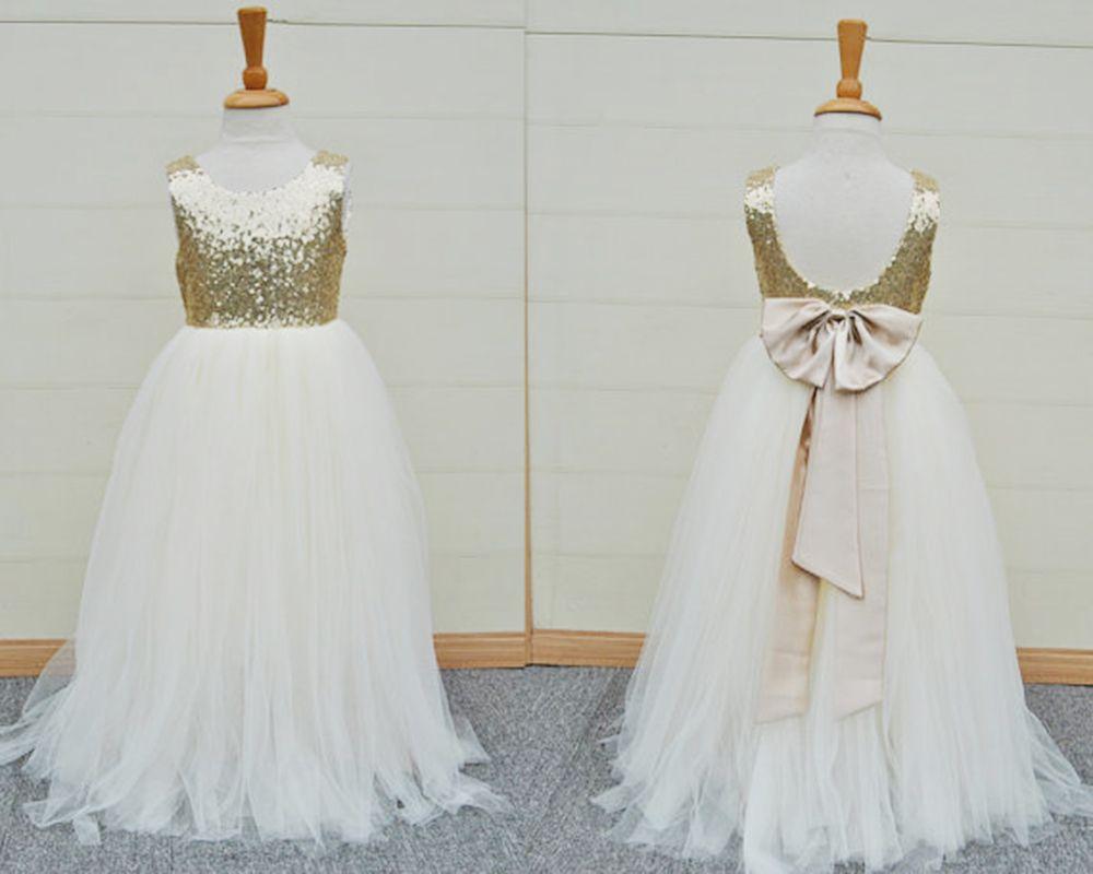 Tulle Girl Flower Length Dressnfloor