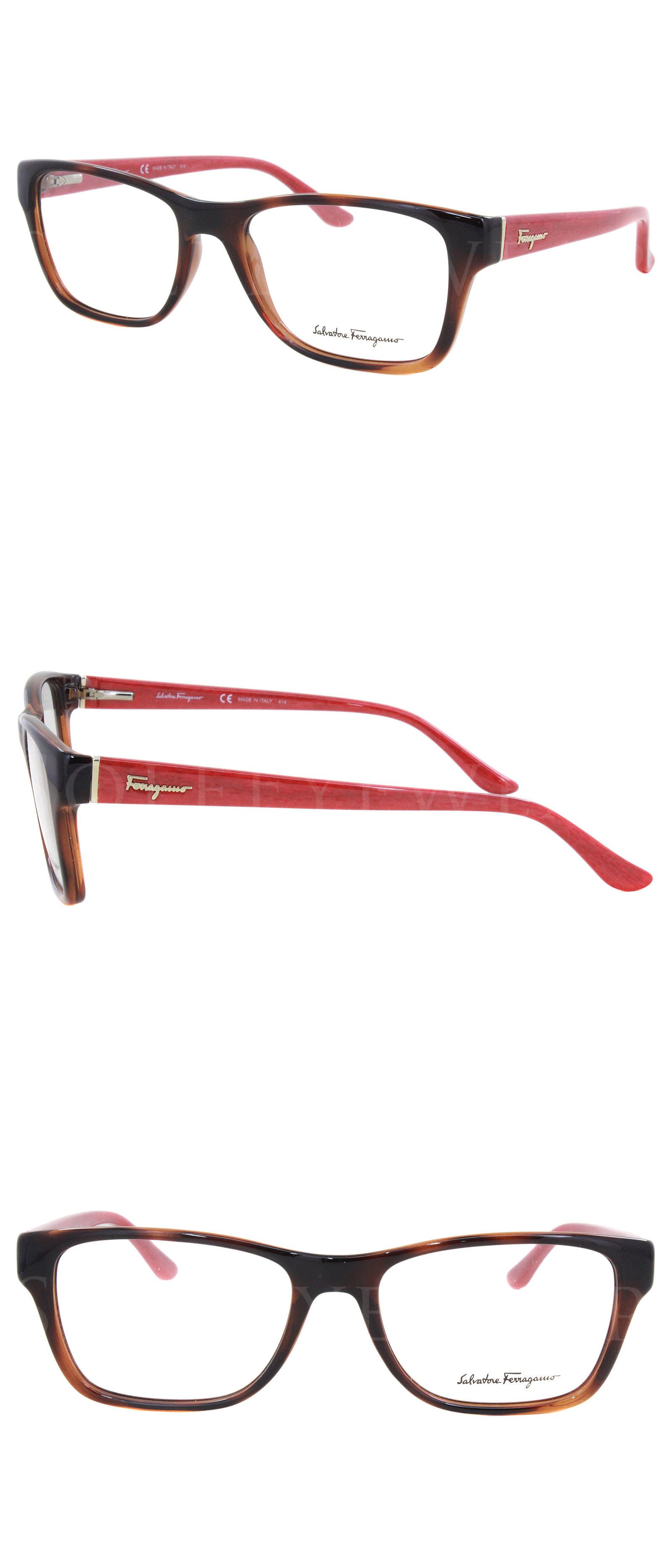 eyeglass frames new salvatore ferragamo sf2687 207 52mm havana red optical eyeglasses frames - Ebay Eyeglasses Frames