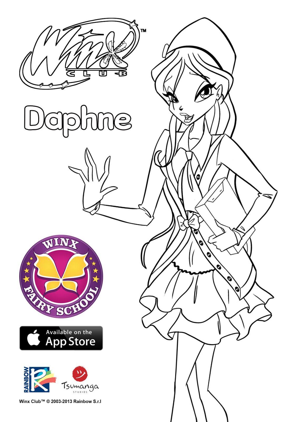 Imagen Oficial De Daphne 6º Temporada Para Colorear Http