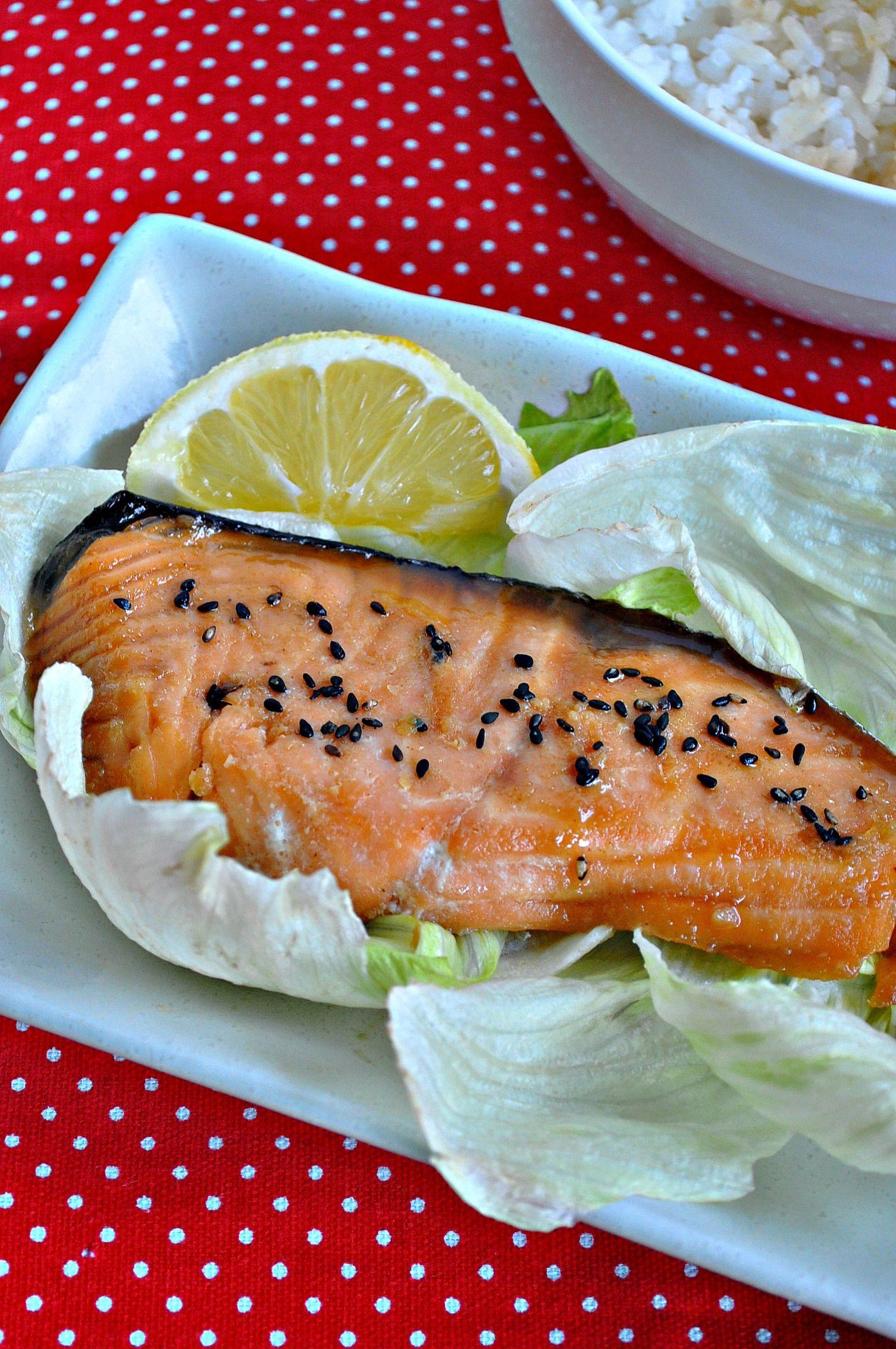 Baked salmon with homestyle teriyaki sauce eat what