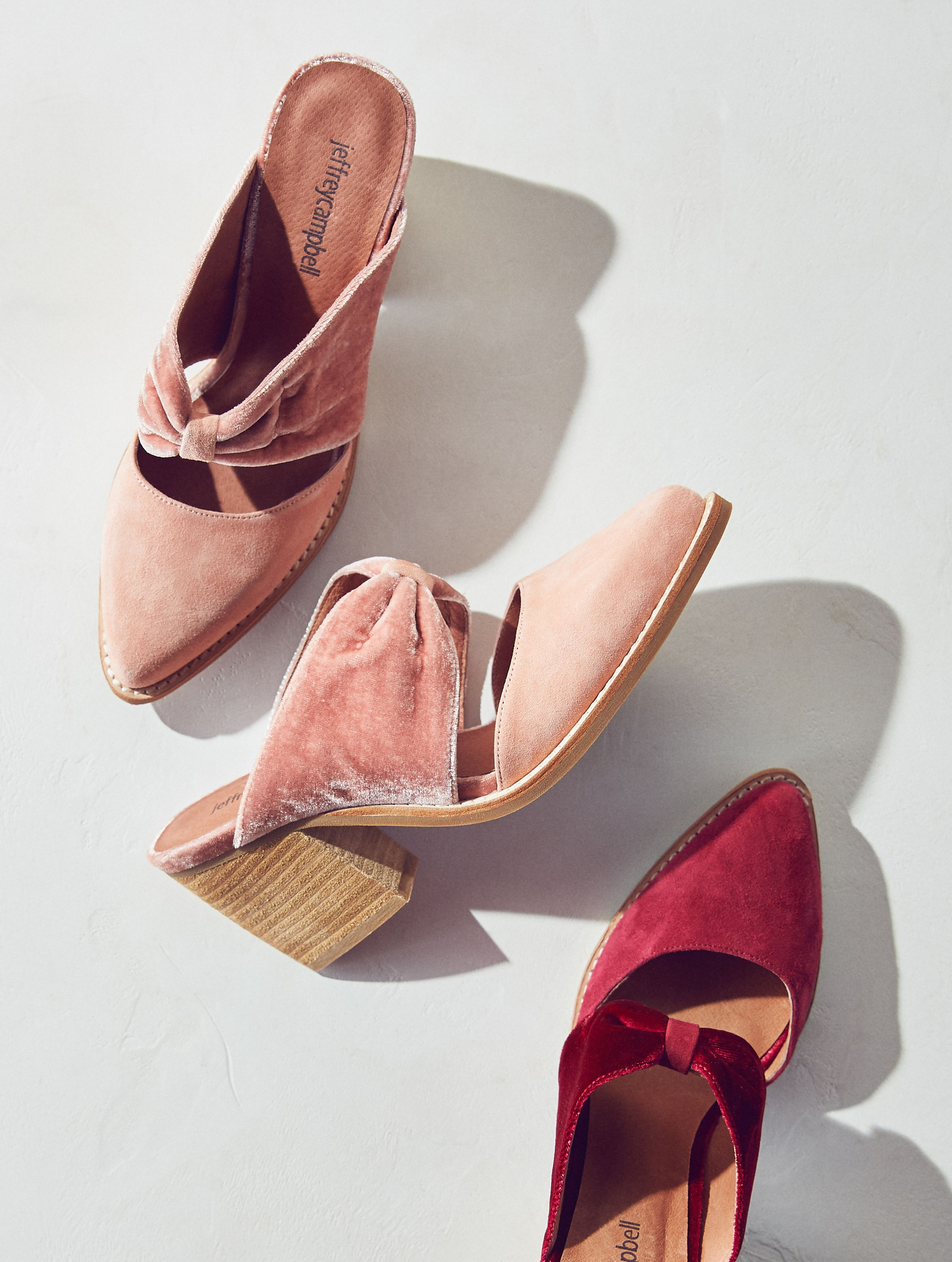 440622c47c7 Jeffrey Campbell Cyrus Velvet Bow Mules in 2019