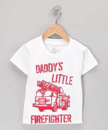 48f8cbfa7 Take a look at this White Daddys Little Firefighter Tee - Toddler & Kids by  Headline Entertainment on #zulily today!