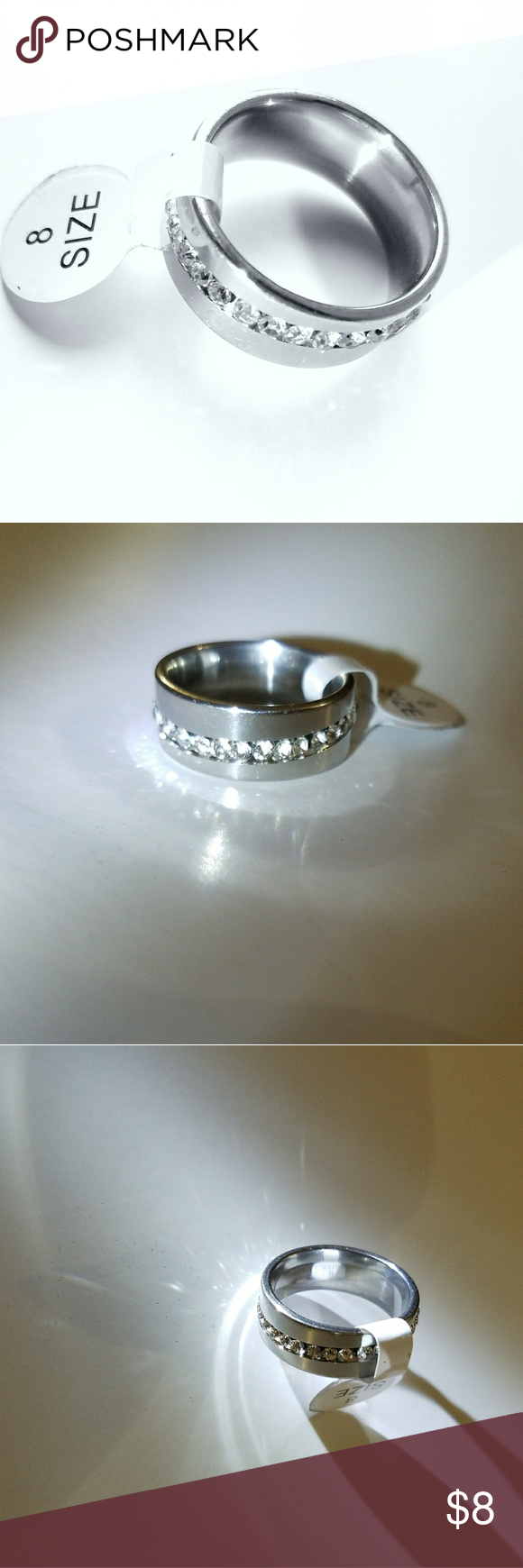 Stainless steel ring unisex band ring boutique band rings rust