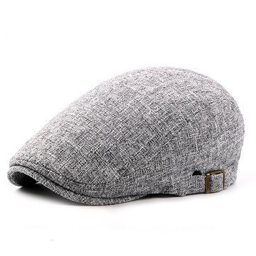 ef33189dab2 Vintage Men  s Cotton Beret Cap Casual Newsboy Hats