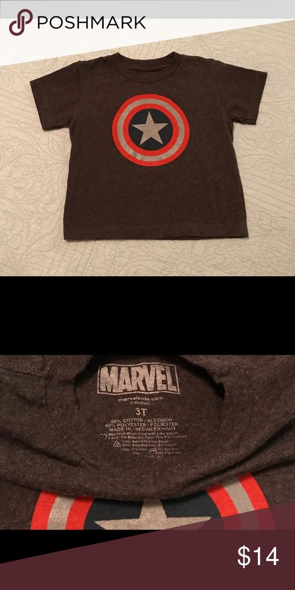 e64fd6166ec Marvel • Captain America • Tee • 3T Excellent
