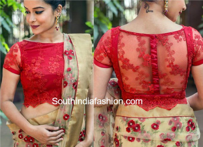 709e85f467d1e1 5 Stylish Net Blouse Designs | Blouse & Necklines | Netted blouse ...