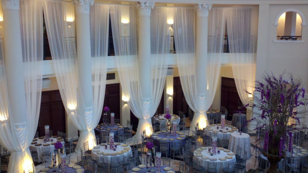 Details About Ceiling Draping Sheer Voile Chiffon Backdrop