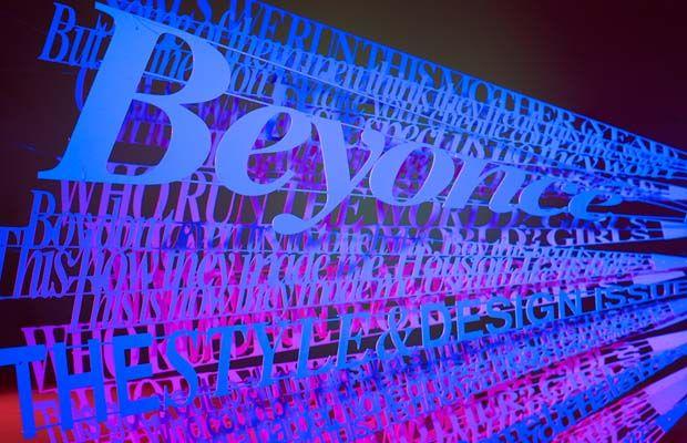 sculptural text (not photoshop)