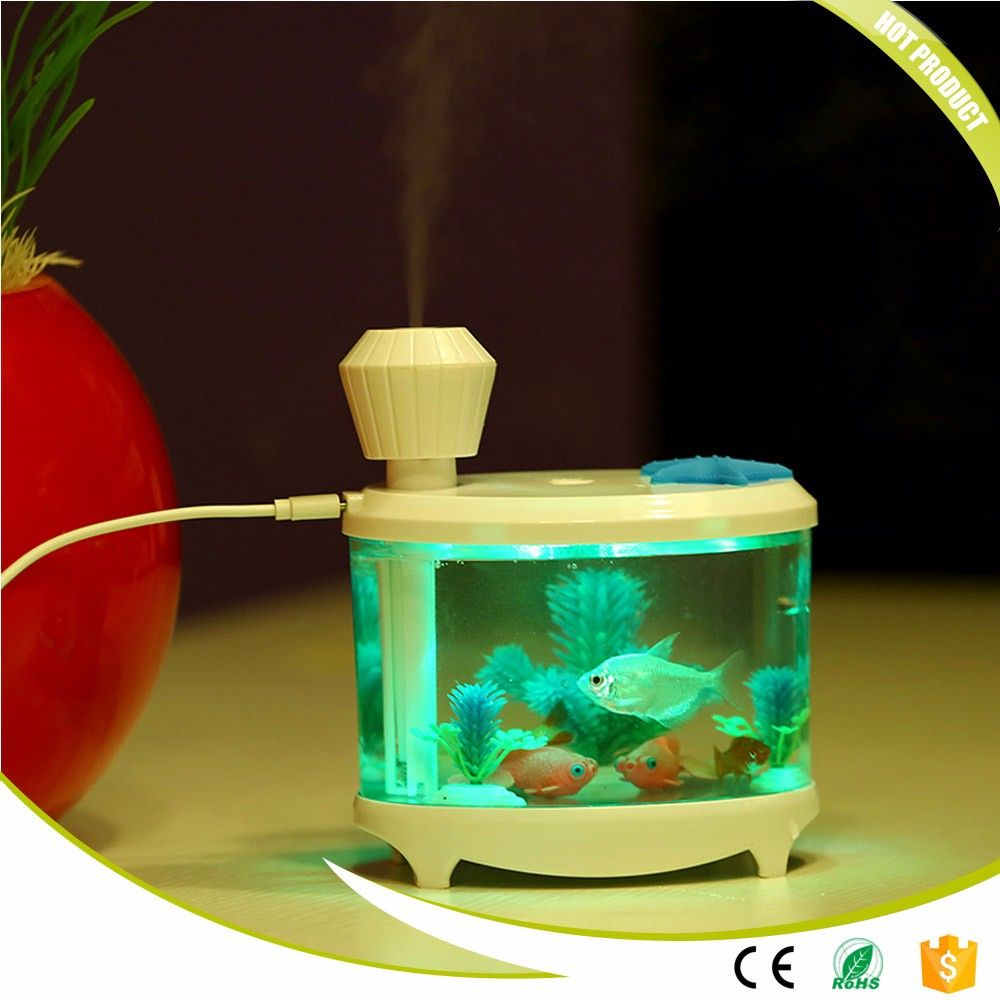 Aquarium fish tank mist maker - Fish Tank Humidifier Ultrasonic Humidifier Aroma Essential Oil Diffuser Led Difusor De Aroma Aromatherapy Diffuser Mist
