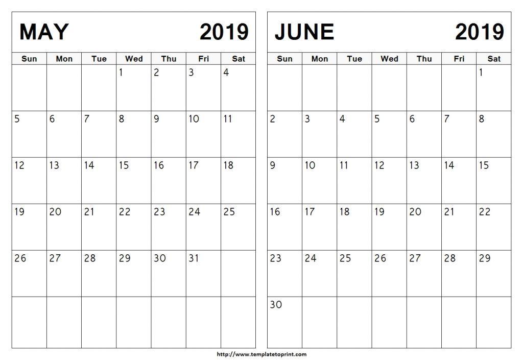 May June July 2019 Calendar Printable Template 2019 Calendar