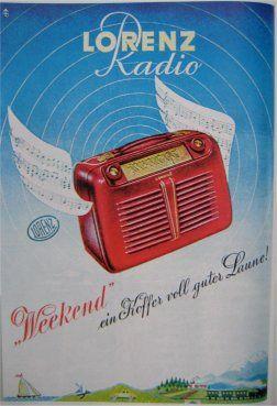 Lorenz Radio Werbung | VINTAGE MACHINES BATTERY ...