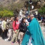 Cientos de estudiantes participaron de la peregrinación a la Gruta de Choya