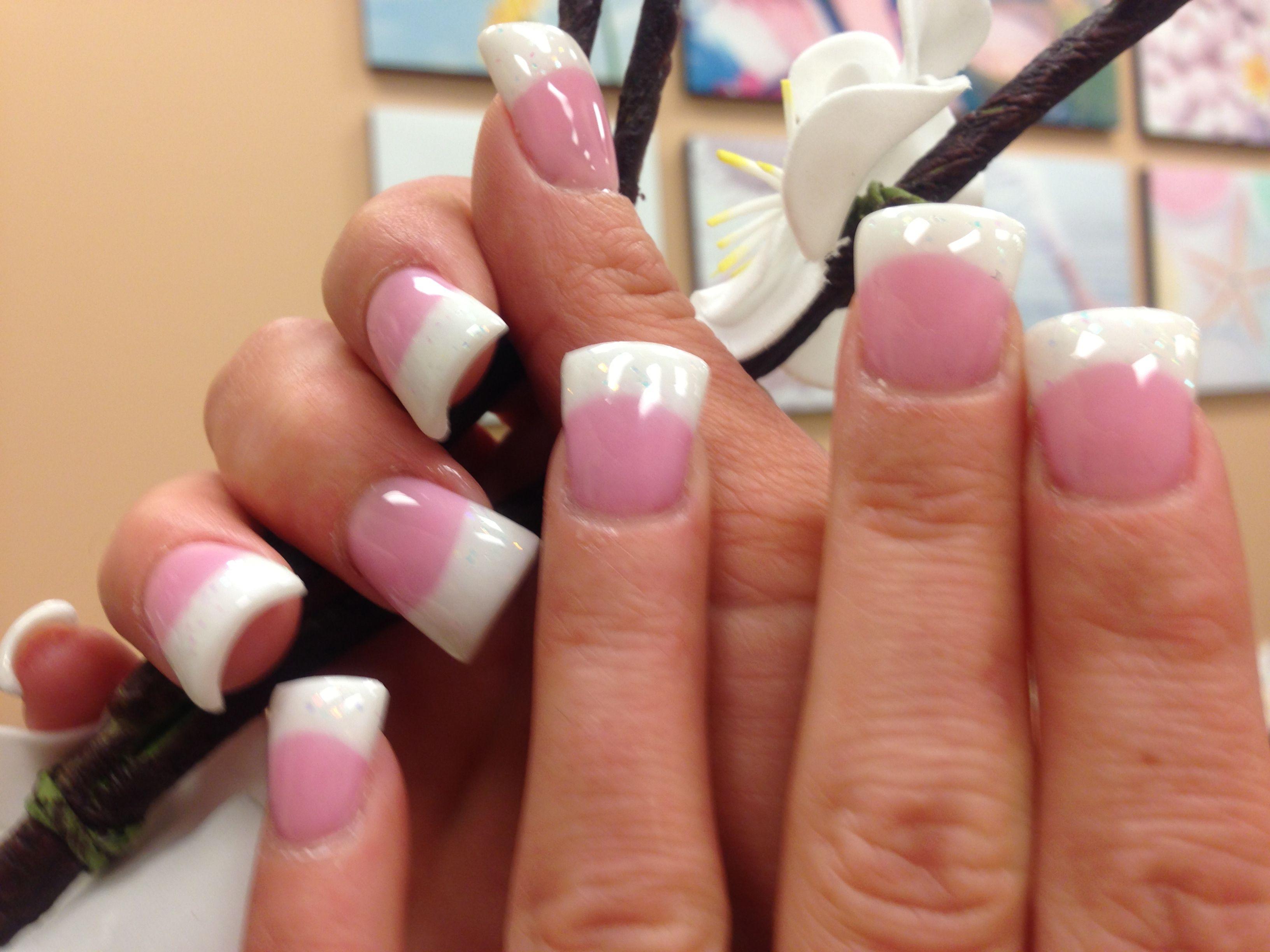 Pink & White Fan at lvsalonandspa.com | Nails Arts | Pinterest ...