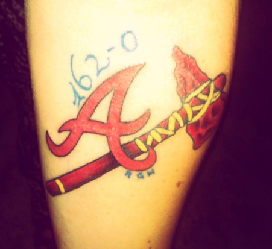 Atlanta Braves Memorial Tattoo Atlanta Braves Tattoo Be Brave Tattoo Memorial Tattoo