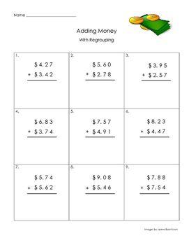 adding money with regrouping money worksheets 2nd grade. Black Bedroom Furniture Sets. Home Design Ideas
