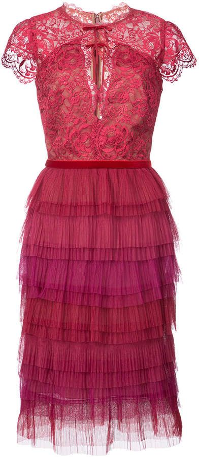 Marchesa Tiered Lace Dress All Things Vintage All Eras