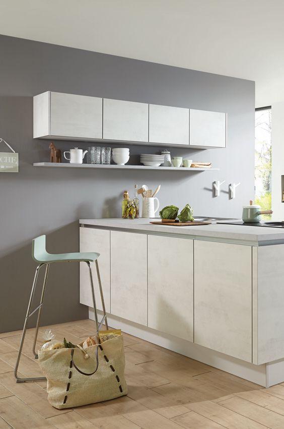 Neue Küchenoberfläche Beton Weiß statt Beton Grau Beton Küche - küche landhaus weiß