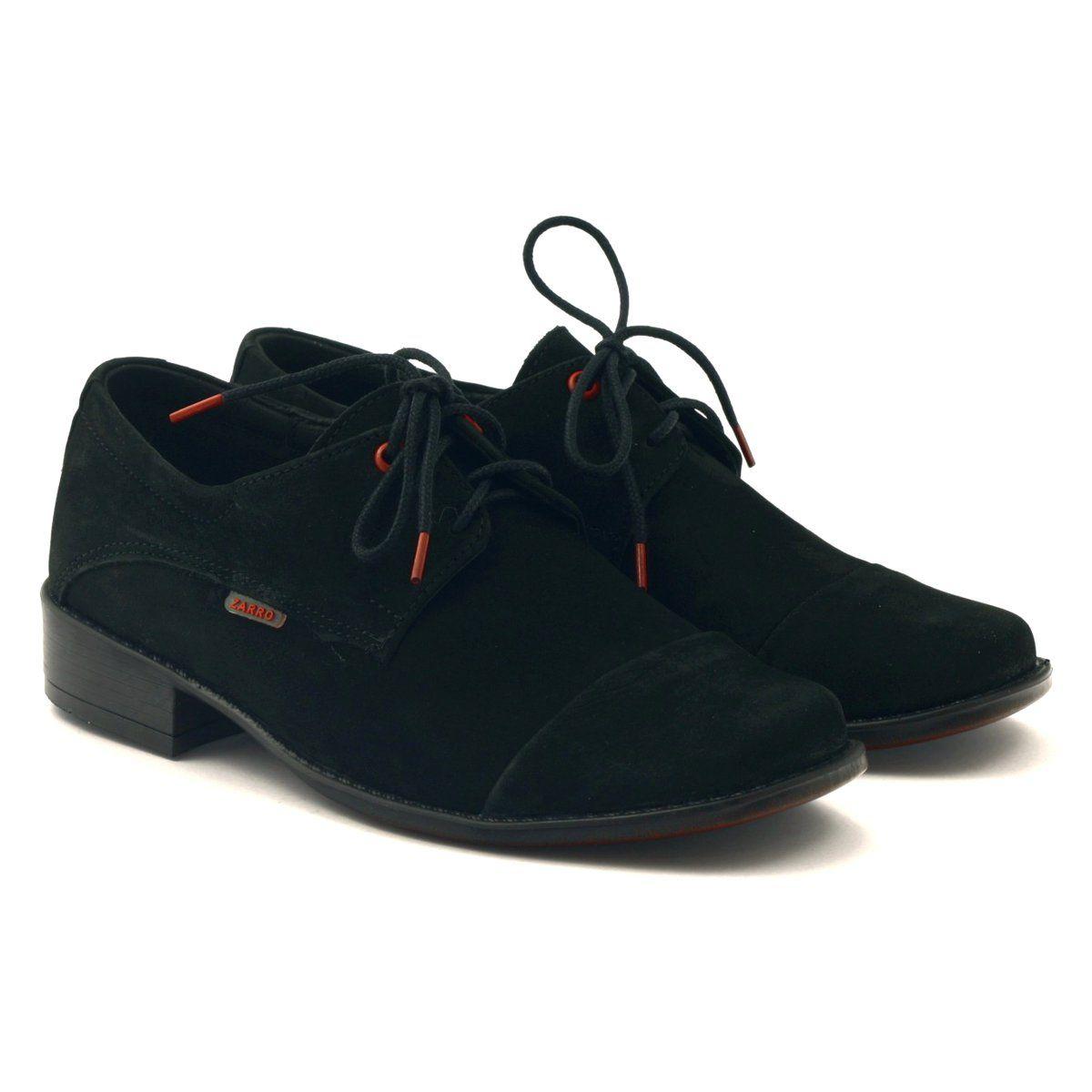 Polbuty I Trzewiki Dzieciece Dla Dzieci Zarro Czerwone Polbuty Skorzane Chlopiece Zamszowe Czarne Childrens Leather Shoes Black Shoes Childrens Shoes