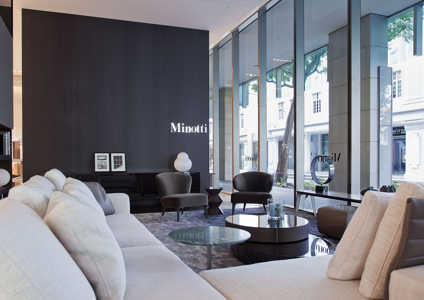Singapore Flagship Store Minotti Singapore Flagship Store Luxury Living Room Interior Design Singapore Luxury Living
