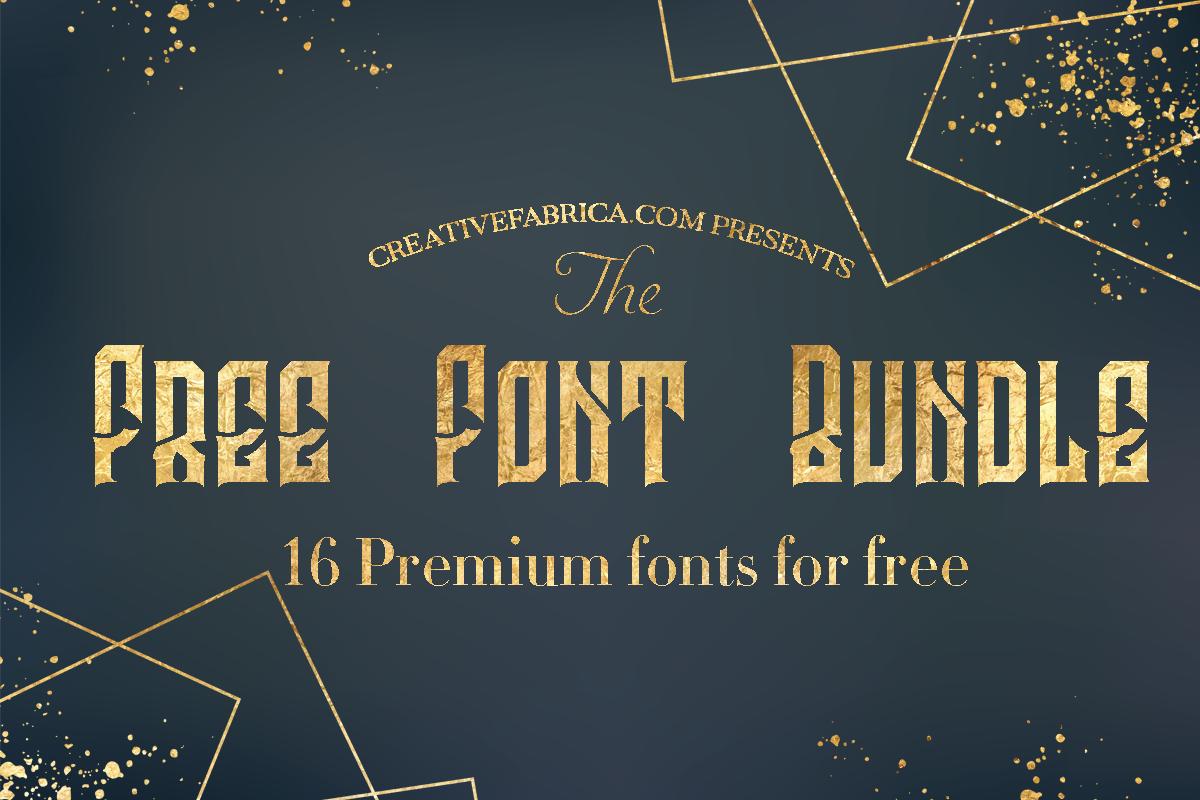Download Free Font Bundle (Bundle (With images) | Free commercial ...