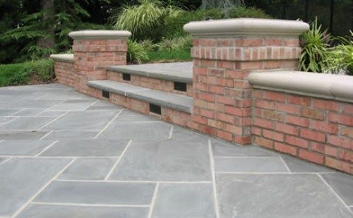 Low Retaining Wall, Steps, Brick Cipriano Landscape Design Mahwah ...