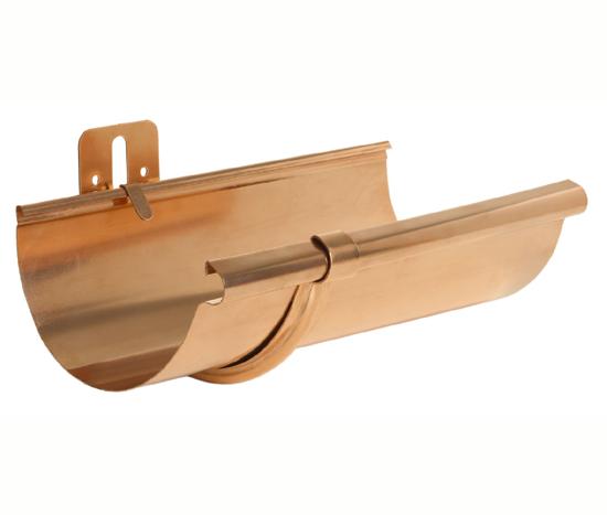 5 6 8 Stamped Half Round Fascia Brackets Copper Chromated Aluminum Galvalume Fascia Gutters Driveway Design