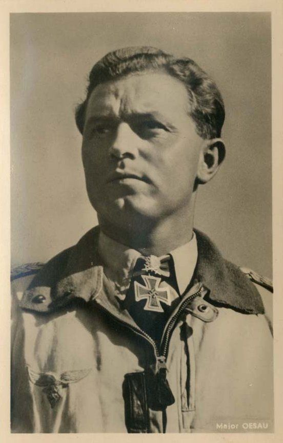Walter Oesau 28 June 1913 11 May 1944 Killed In Action By Us Fighters Over The Ardennes Rk 20 08 1940 Ritterkreuztrager Jagdflieger Luftwaffe