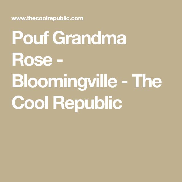 Pouf Grandma Rose Bloomingville The Cool Republic Pouf Cool