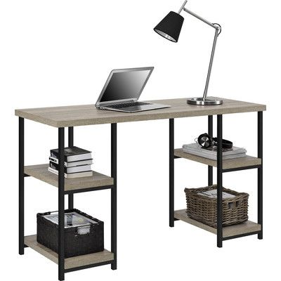 Altra Furniture Elmwood Double Pedestal Desk   From A Home Office To A Dorm  Room To A Craft Room, The Altra Furniture Elmwood Double Pedestal Desk Is  Right ...