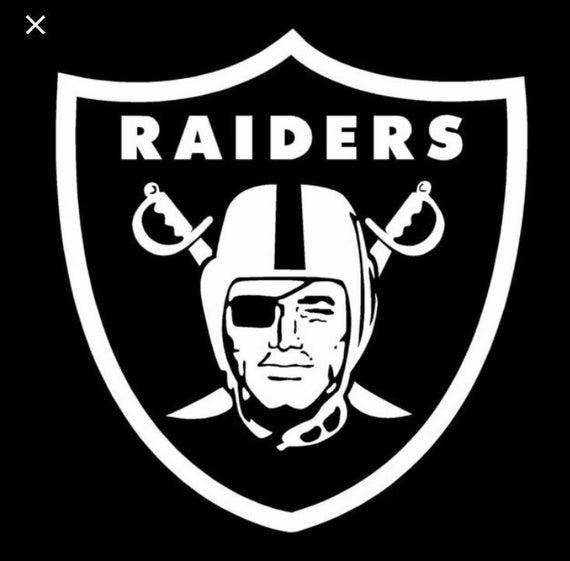 Raiders Vinyl Decal Oakland Raiders Las Vegas Raiders Los Angeles Raiders Raiders Raider Nation In 2020 Oakland Raiders Raiders Flag Nfl Oakland Raiders