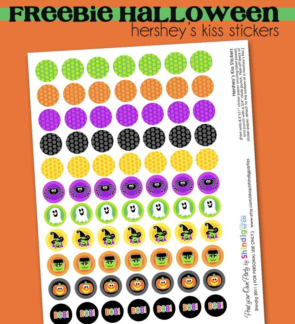 Amanda S Parties To Go Free Halloween Hershey Kiss Printables Halloween Printables Free Free Halloween Halloween Printables