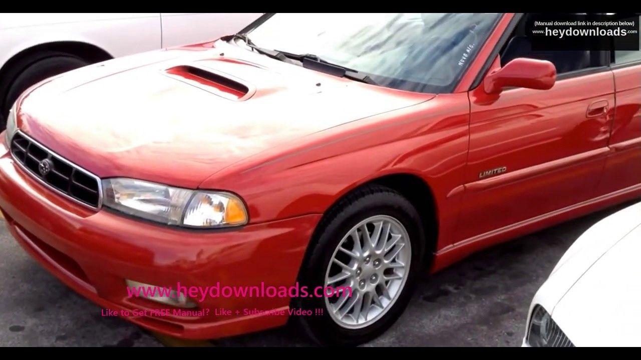 1998 Subaru Legacy Outback Gt L Service Manual Legacy Outback Subaru Legacy Subaru