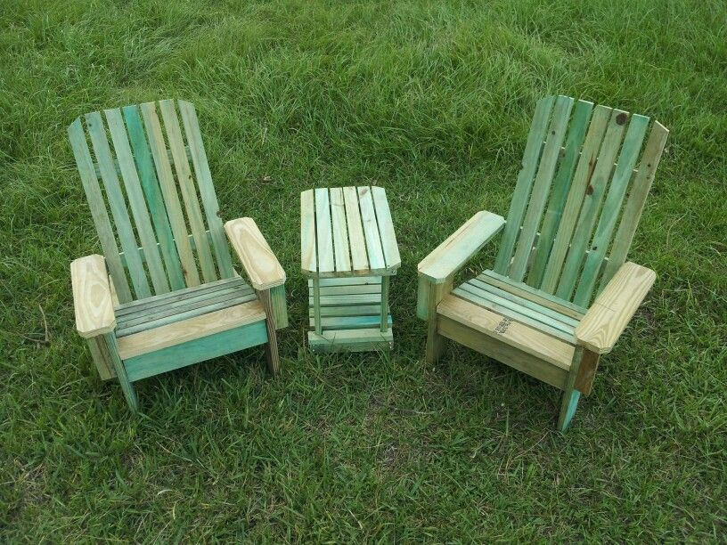 Twin Adirondack chairs and table set for boy or girl