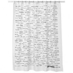 250 German Word Shower Curtain This Words Features Common With Definitions Printed In Black On A Stylish