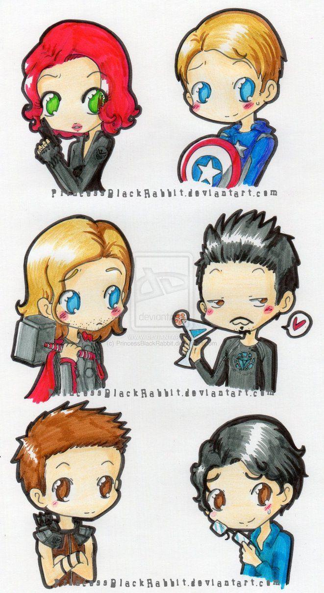 chibi avengers by *PrincessBlackRabbit   Avengers and ...
