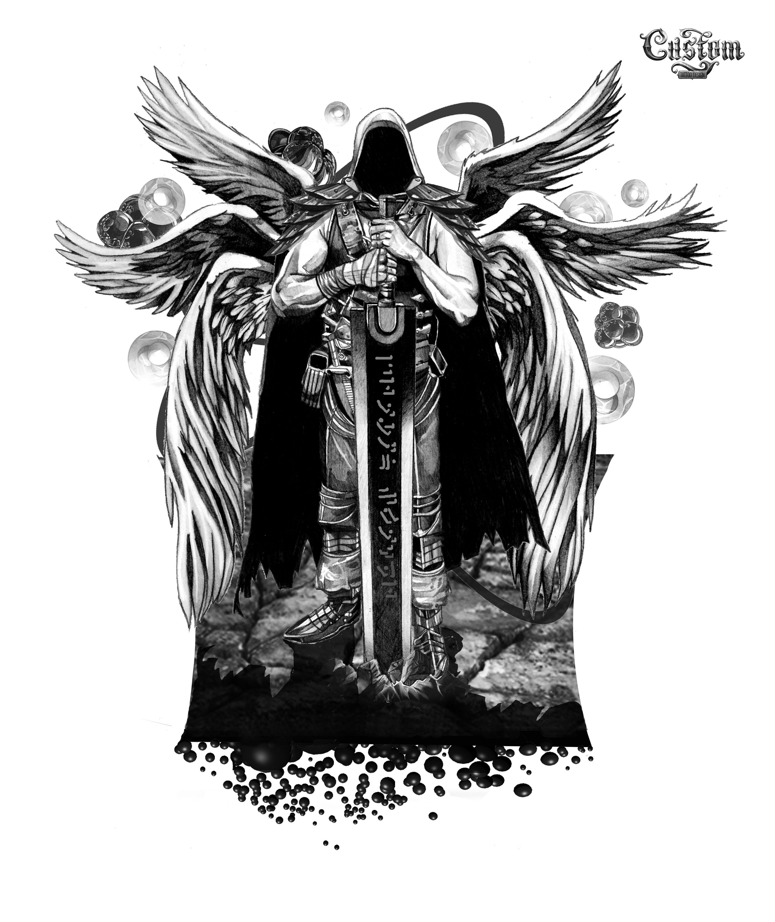 вот черный ангел тату картинки причин