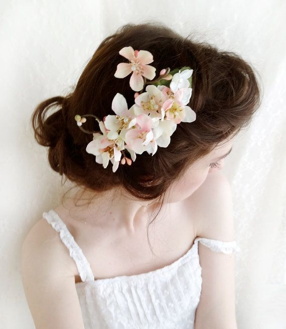 Pink Cherry Blossom Hair Accessory Wedding Hair By Thehoneycomb 65 00 Pink Flower Hair Piece Floral Hair Combs Bridal Hair Flowers
