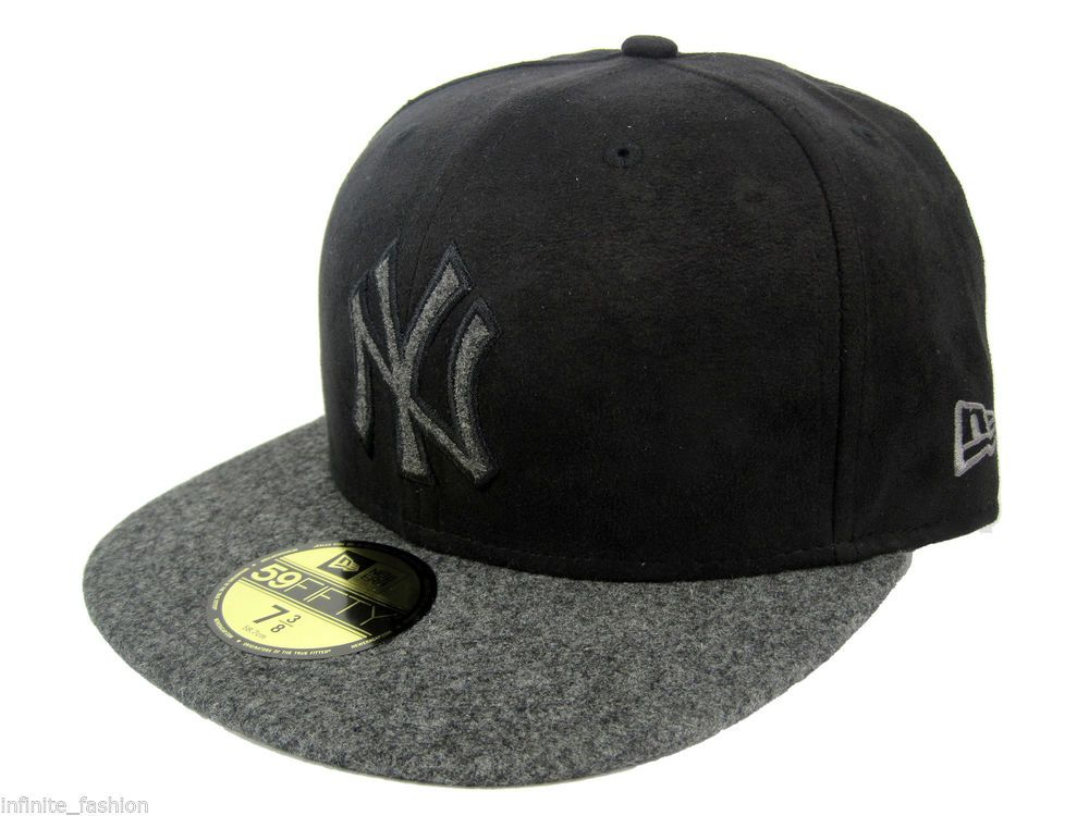 5dca62524a New Era Men's MLB 59FIFTY New York Yankees Mel-Suede Fitted Cap - Black &  Grey #NewEra #BaseballCap #NewYorkYankees