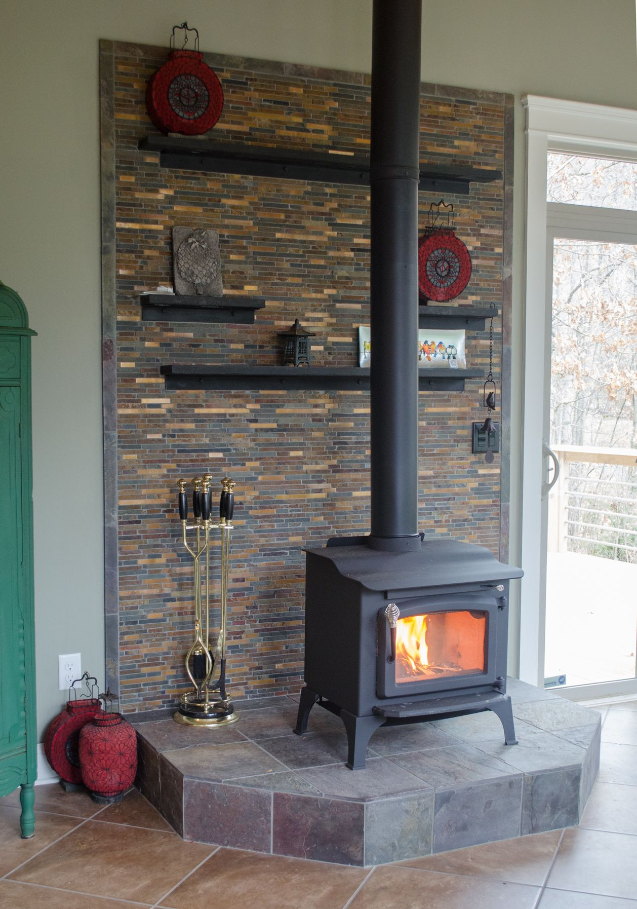 Wood Stove Surround Corner