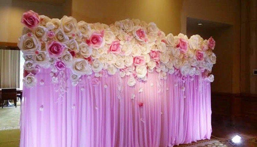 Decoraci n con flores gigantes de papel ideas para for Decoracion con plantas