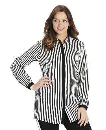 Stripe Contrast Placket Shirt