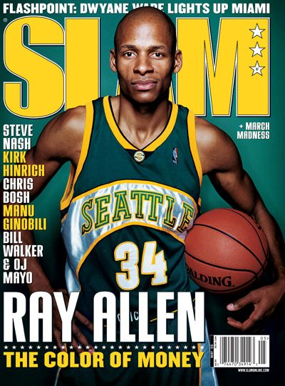 Ray Allen makes the cover of Slam Magazine. | Basketball is life ...