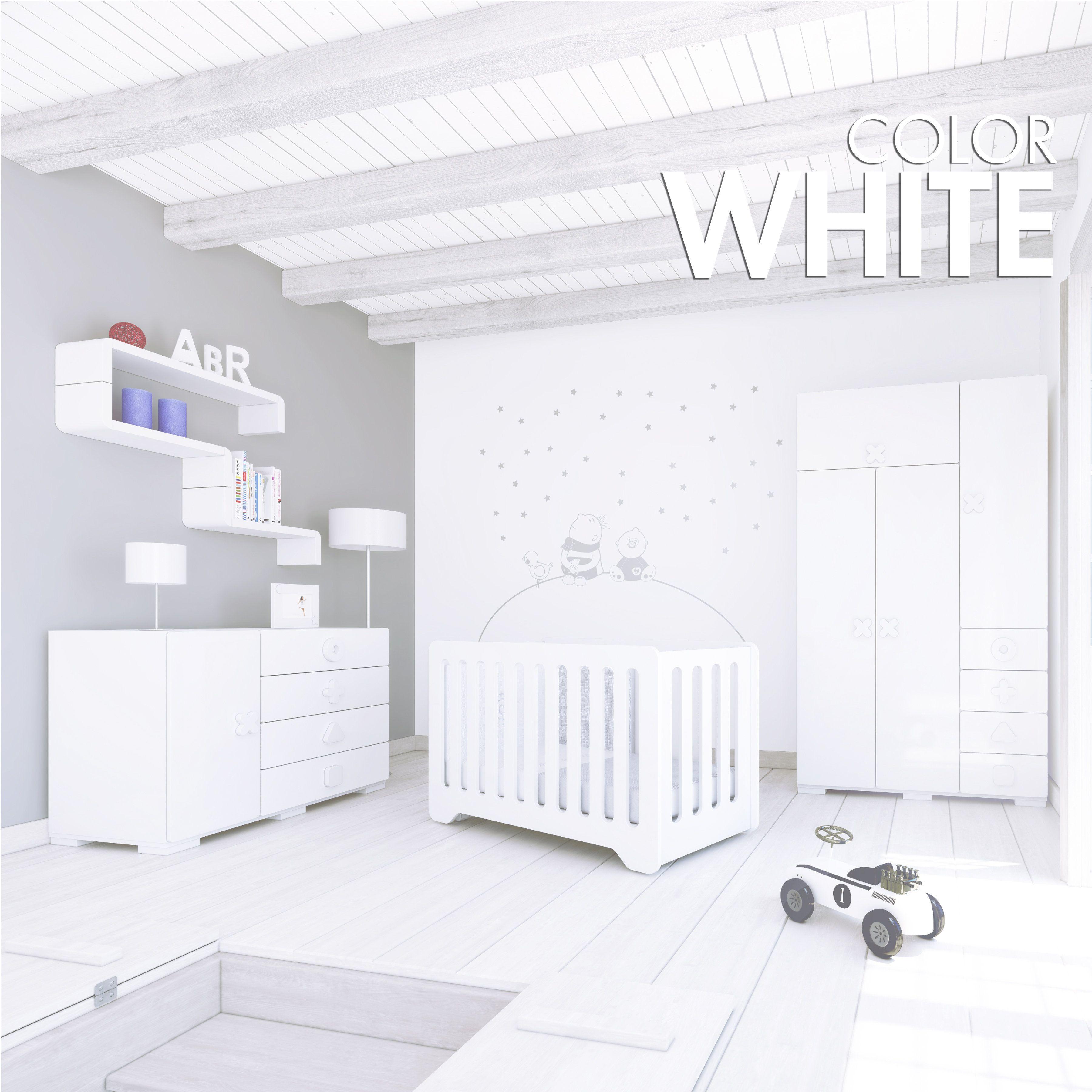 Muebles de diseño de bebés para los amantes del color blanco ...