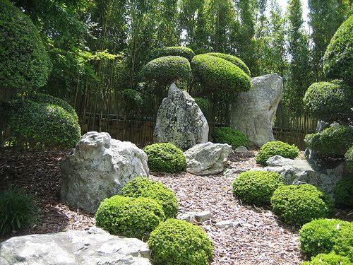 Rock Garden Area In The Japanese Garden Japanese Rock Garden