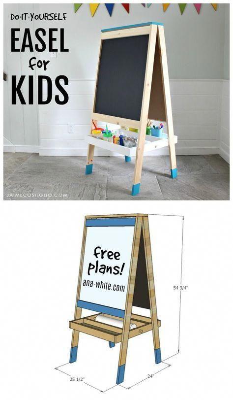 easel for kids diy project WoodworkingForKids