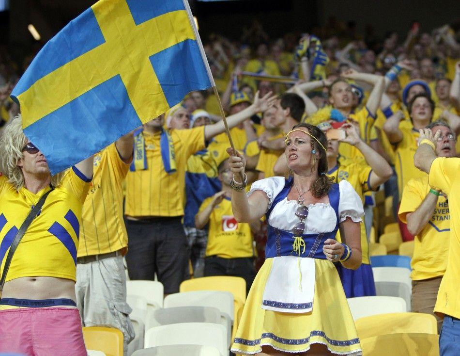 Swedish Fans Sweden Photojournalism Nordic